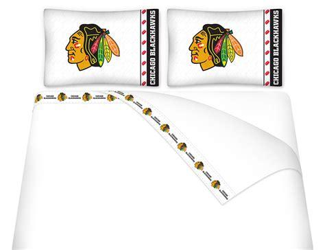 blackhawks bedding nhl blackhawks queen bed sheets chicago hockey sheet set queen bed