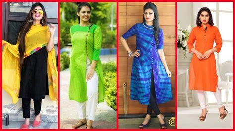 kurti pattern for fat ladies latest designer kurti kurta designs for girls 2017 youtube
