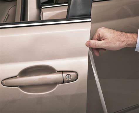 Clear Door Edge Guards by 3m Clear Door Edge Guards Set Of 4 Fits All Vehicles Ebay