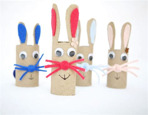 How To Make A Bunny Out Of Paper - cardboard bunny craft family crafts