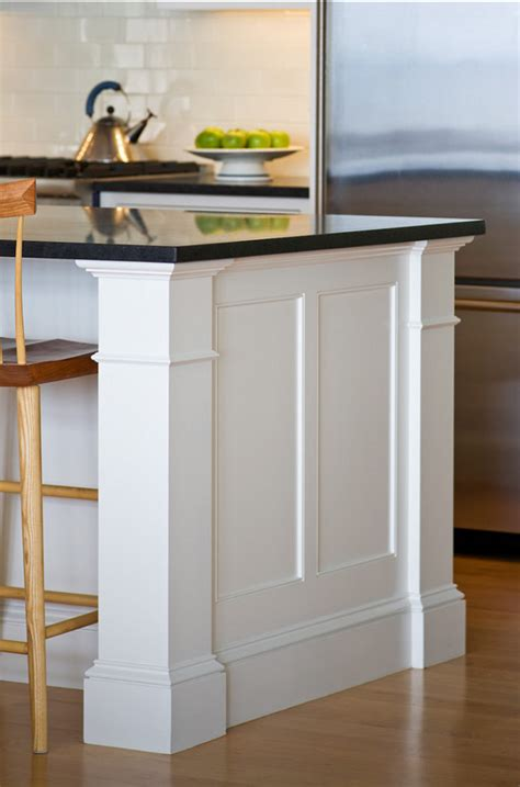 kitchen island molding shingle style home bunch