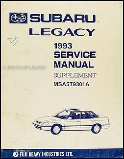service manual old car owners manuals 1993 subaru svx instrument cluster service manual car 1993 subaru legacy repair shop manual supplement original