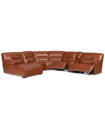 gennaro 5 pc leather sectional sofa macys leather sectional recliner chairs seating