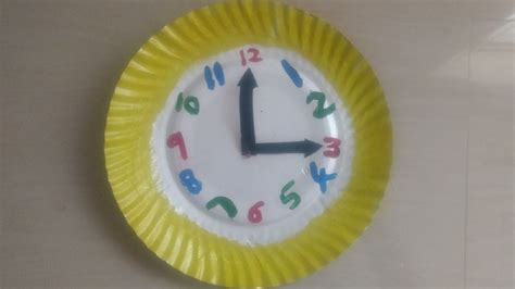 How To Make A Clock With Paper Plate - diy wall clock with paper plate easy crafts ideas
