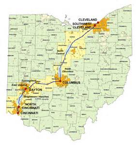 Map Of Ohio And New York by Ohio New York Map
