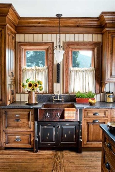country kitchen sink ideas wooden country kitchen