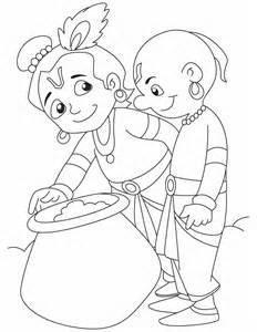 coloring pages lord krishna coloring pages