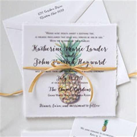 pineapple wedding invitations tropical wedding invitations mospens studio