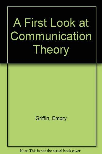 a first look at a first look at communication theory 3rd edition rent 9780070228221 0070228221