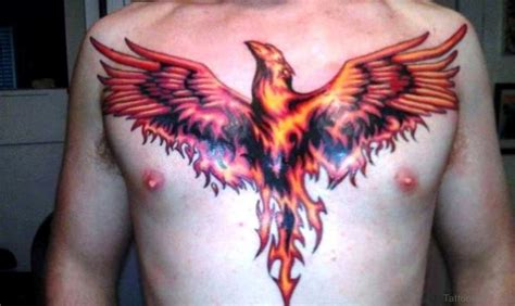 phoenix chest tattoo 67 funky tattoos for chest
