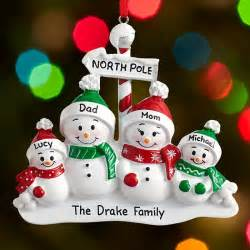 personalized christmas ornaments for family at personal