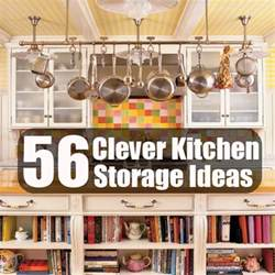 Clever Storage Ideas For Small Kitchens by 56 Clever Kitchen Storage Ideas Diy Cozy Home World