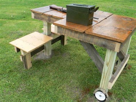 homemade portable shooting bench homemade portable shooting bench plans home design ideas