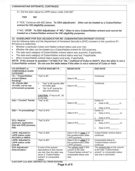 g 845 supplement ssa poms si 00502 115 verification of