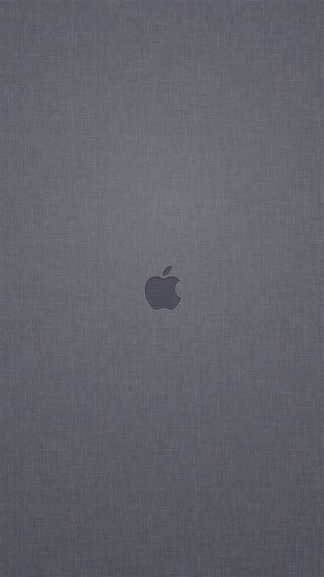 gray texture 2 iphone 6 wallpapers hd iphone 6 wallpaper apple logo gray linen texture background iphone 6