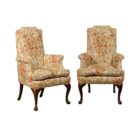 hostess chairs pair of upholstered host and hostess chairs at 1stdibs
