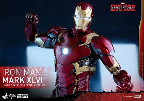 Shf Ironman 46 Iron Mk 46 Civil War toys diecast captain america civil war iron
