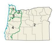 oregon congressional district map congressional boundaries 2003 to 2012