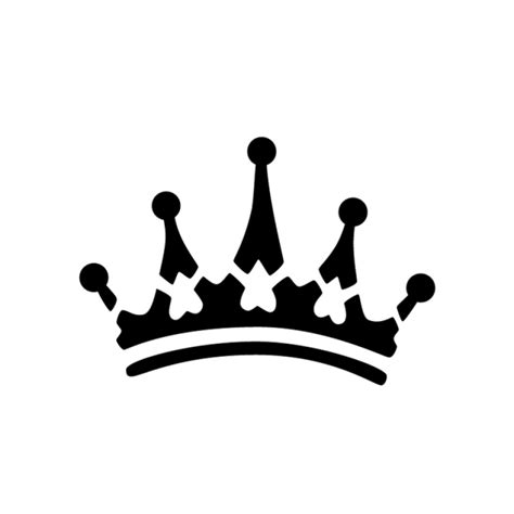 crown clipart stencil pencil and in color crown clipart