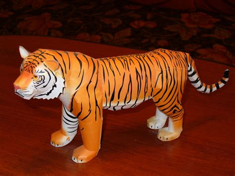 Tiger Papercraft - tiger papercraft 2 by moonfishz on deviantart