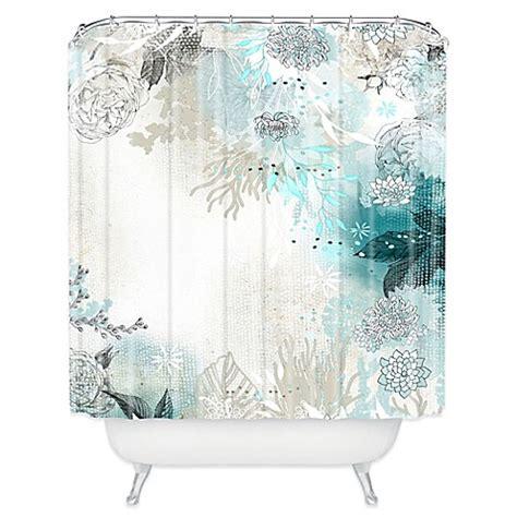 deny designs shower curtain deny designs iveta abolina seafoam shower curtain in white