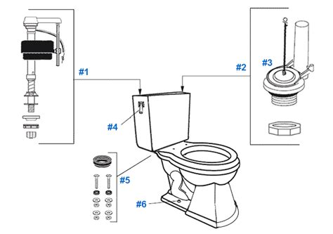 mansfield toilet diagram parts diagram for mansfield two barrett toilets