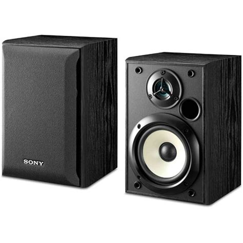 sony ss b1000 2 way bookshelf speaker pair ss b1000 b h photo