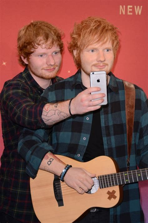 "Ed Sheeran is impressed by his waxwork at Madame Tussauds: ""He's got a bulge so it's all good"