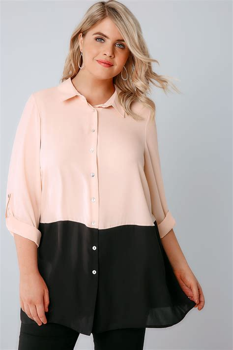 Does A Temporary Restraining Order Show Up On A Background Check Light Pink Colour Block Longline Chiffon Shirt With 3 4 Length Roll Up Sleeves Plus