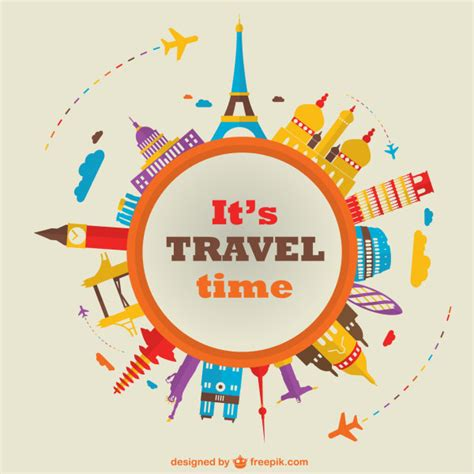 Travel Time world travel time vector background vector background vector travel free