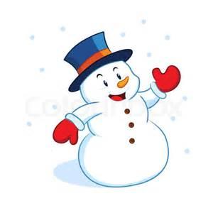 snowman waving stock vector colourbox