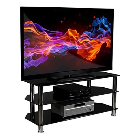 Tempered Glass Universal 50 Inch All Type glass tv stand mount it glass tv stand for flat screen televisions fits 40 42 46 47 50 55 60