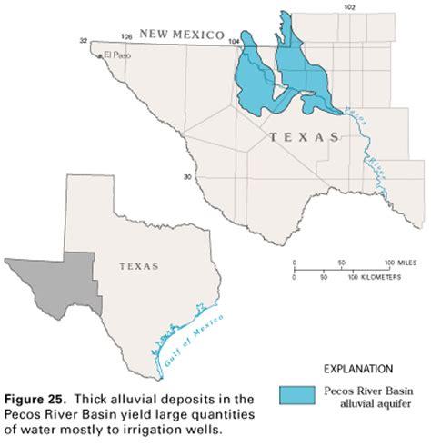 pecos river texas map pecos river basin alluvial aquifer extent