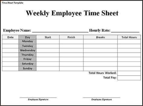 Search Results For Free Printable Work Time Sheet Calendar 2015 Work Timesheet Template