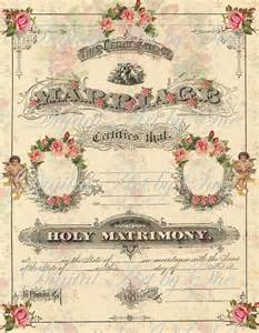 instant download full size sheet altered antique marriage