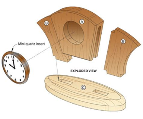 wooden desk clock plans pdf diy woodworking desk clock plans woodwork