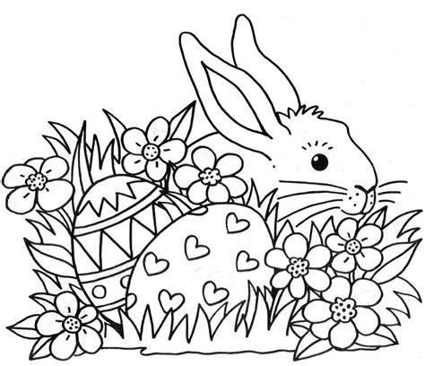 Colour Easter Bunny Images To Colour