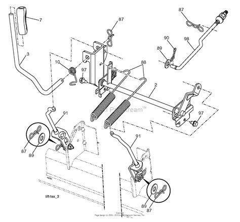 husqvarna lawn mower parts diagram husqvarna lgt2554 96045001701 2012 03 parts diagram