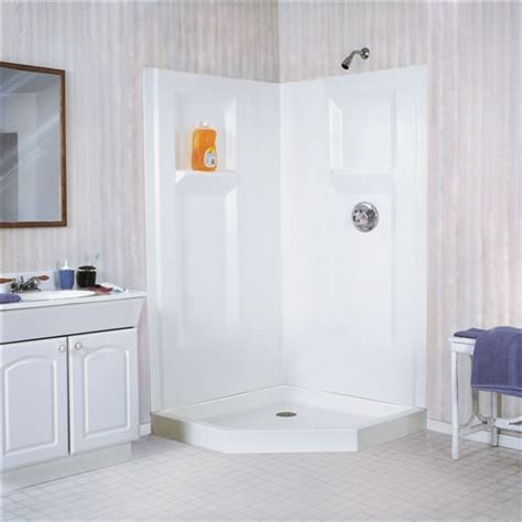 fiberglass bathroom walls mustee 736c durawall 174 fiberglass corner shower wall