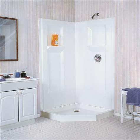 fiberglass bathroom walls mustee 742c durawall 174 fiberglass corner shower wall