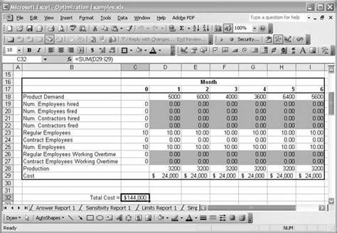 resource allocation template excel free recipe13 2 exploring resource allocation optimization