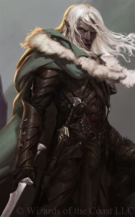 e drow drizzt concept digital painting dungeons and dragons