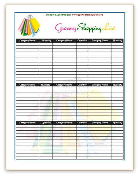shopping template shopping list template search results calendar 2015