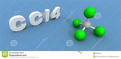 Carbon Tetrachloride Molecule Stock Illustration - Image ... Carbon Tetrachloride Molecule