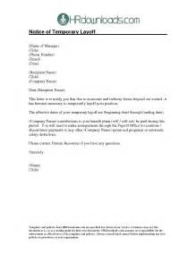 Employment Layoff Letter 10 Best Images Of Exle Of Lay Notice Temporary Layoff Letter Sle Sle Lay