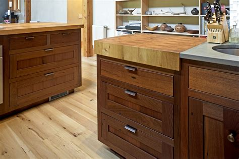 Walnut Cabinets by Timber Frame Cabinetry New Energy Works
