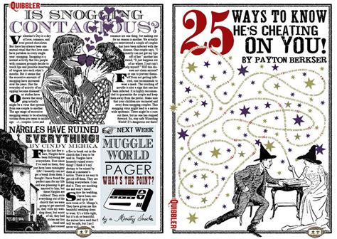 free printable quibbler 50 best the quibbler images on pinterest livros harry