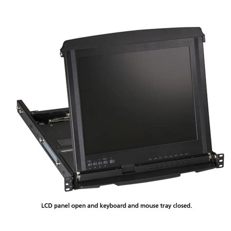 Lcd Console Drawer by 17 Quot Lcd Console Drawer With 8 Port Catx Kvm Switch Black Box