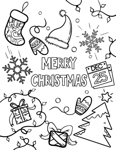 merry christmas coloring pages getcoloringpagescom