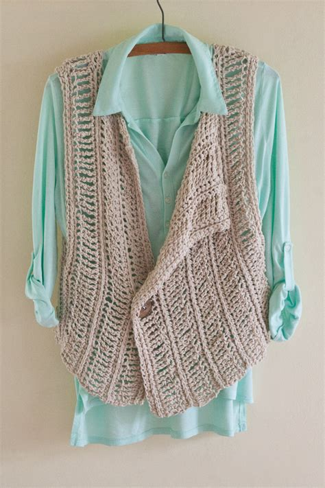 pattern for simple vest crochet pattern crochet vest pattern spring cover up